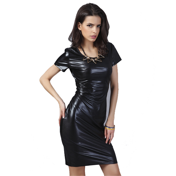 Popular Short Leather Dress-Buy Cheap Short Leather Dress lots ...