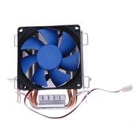 7 Pcs Blade Mute Computer Cooling Fan CPU Cooler Heatsink Double Heatpipe Radiator For Intel AMD