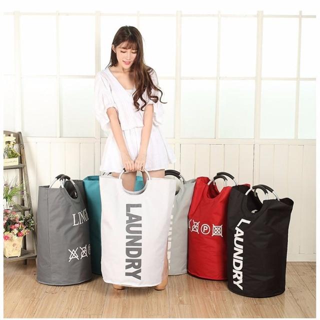 X-Grande Lona Dobrável Pop Up Cesto de roupa suja Cestas para Estudantes Universitários, Sacola De Armazenamento Cestas de Lavar Roupas Lavanderia sacos