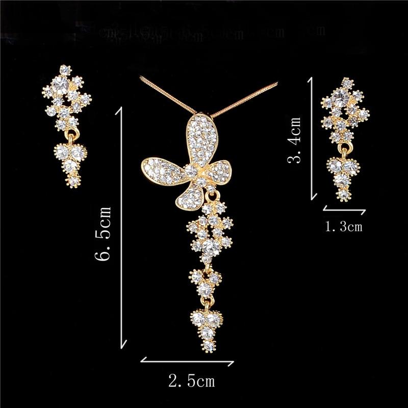795f7563a652 0387 mujer collar perlas Colgantes collar Pendientes Juegos de joyería  Navidad oro lleno de joyería de moda rhinestone CZ Piedras cristal