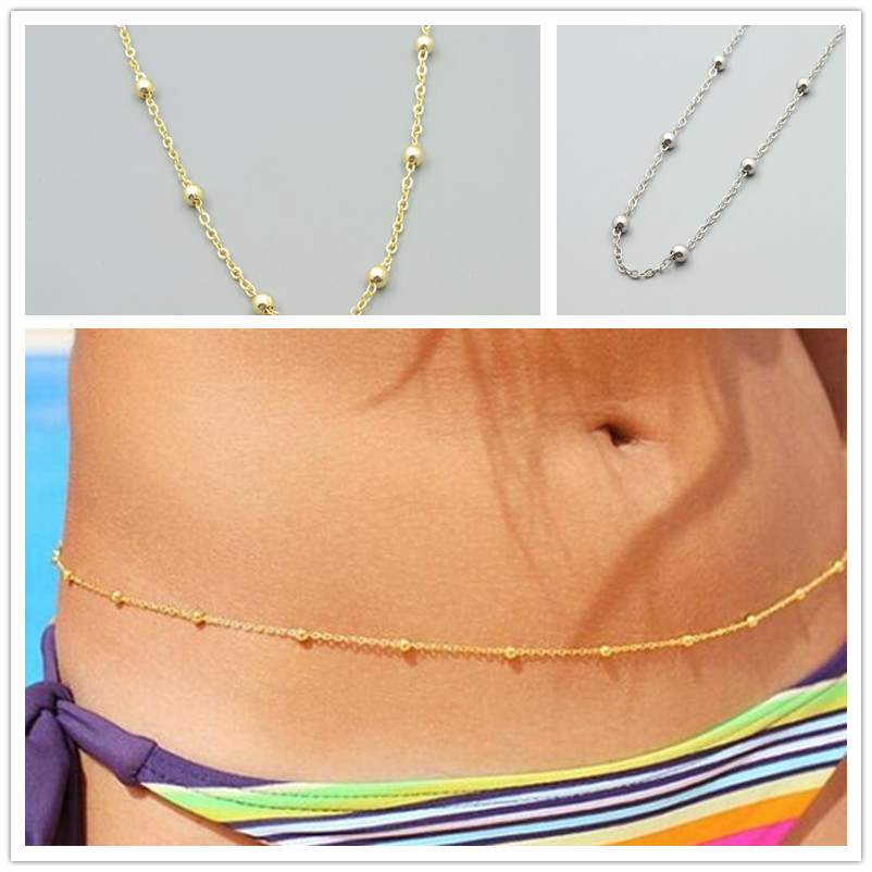 New fashion jewelry gold color Waist bead body chain link for