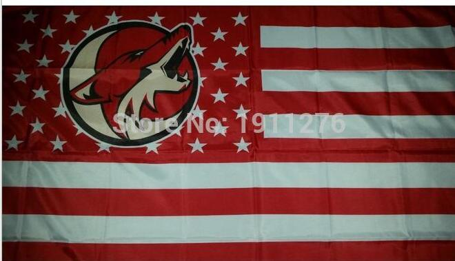 Phoenix Coyotes Flag 90*150cm stars and stripes Banner Polyester NHL Arizona Coyotes flag banner