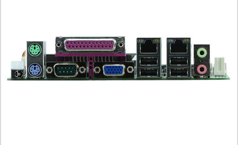ATOM D2550 CPU Industrial Embedded Motherboards With 6*USB /6*COM /1*VGA Low Power Consumption