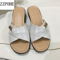 ZZPOHE Madre zapatos de Verano zapatillas de Moda inferior suave cómodo y casual mujer zapatillas antideslizantes zapatillas zapatillas de playa de Las Mujeres