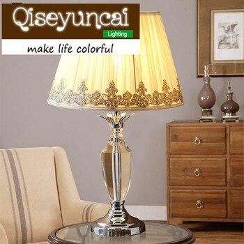 Qiseyuncai Европейский стиль свадьбы уютная спальня K9 с украшением в виде кристаллов настольная лампа современная простота роскошные высокого ...