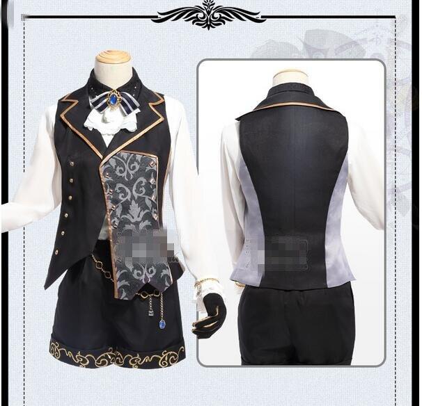 2017 Black Butler Ciel Dream 100 Sun Awaken Cosplay Costume Black Gothic Uniform