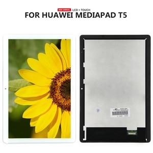 Digitalizador touchscreen para huawei, display de lcd para modelos huawei mediapad t5 10 10.1 AGS2-L03 AGS2-W09 AGS2-L09, AGS2-AL00HA