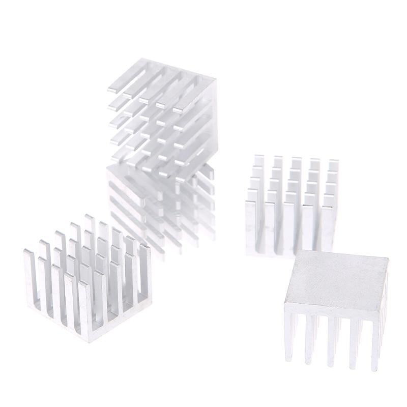 5 Pcs/Set 20*20*16mm Aluminum Heatsink Block Computer Electronic Chip Cooling