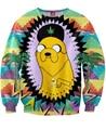 Mulheres/Homens Dos Desenhos Animados 3D Ondas Camisolas Aventura Adventure Time com Suores Wavves Jake the Dog Camisola do Pulôver Tops