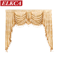 European Golden Royal Luxury Curtains For Bedroom Window Curtains For Living Room Elegant Drapes Curtains