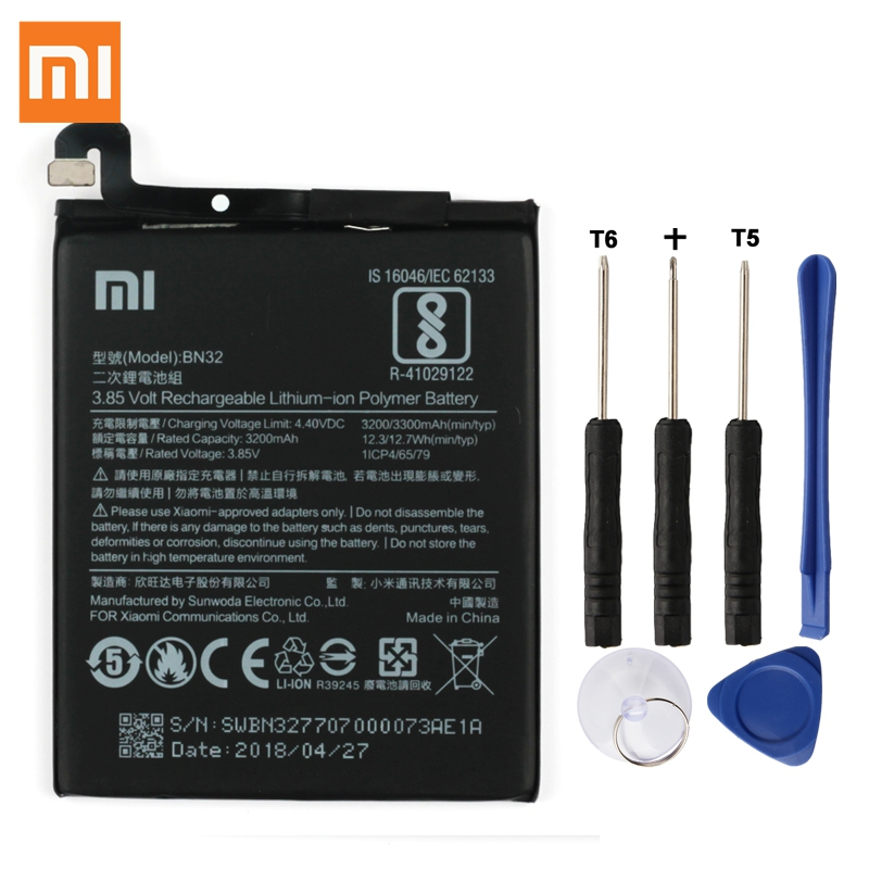 Original XIAOMI BN32 Replacement Battery For Xiaomi Authentic Phone Batteries 3300mAh