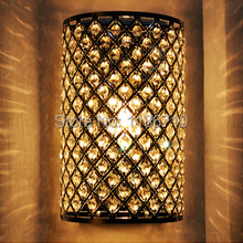 Contracted and contemporary Crystal wall lamp Semicircle crystal wall lamp Decorative lamps and lanterns Free shipping