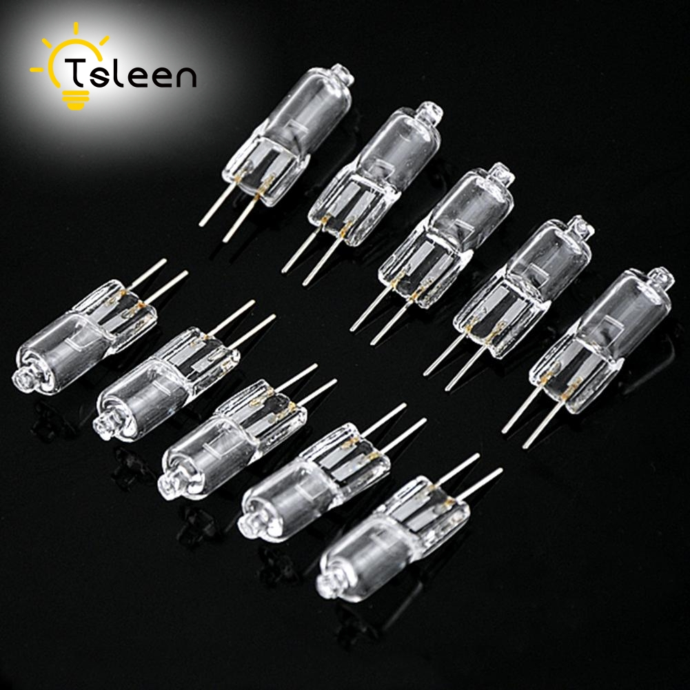 TSLEEN Hot Sale 20PCS Super Bright G4 12V 20W Tungsten Halogen Bulb Lamp Lighting Light Bulb 20pcs bulb string light
