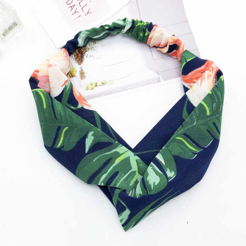 2019 Moda hot Mulheres Acessórios Para o Cabelo Headbands Turbante Bandanas Elásticas Estampas de Flores Hairband Faixas de Cabelo Goma De Cabelo para Meninas