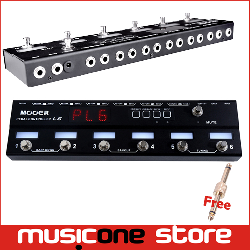 buy mooer pedal controller l6 programmable 6 channel loop switcher true bypass. Black Bedroom Furniture Sets. Home Design Ideas