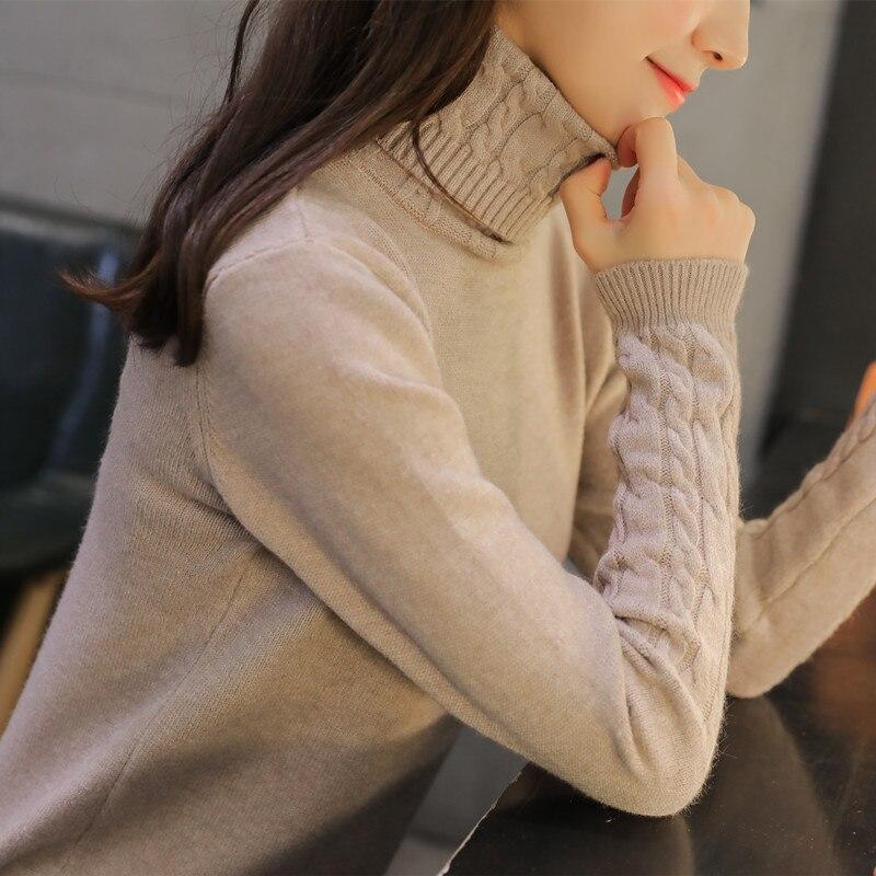 OHCLOTHING Cuello Alto invierno femenina versión Coreana de la nueva camisa de g
