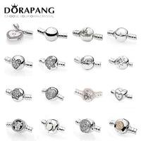 Dorapang 100% стерлингового серебра 925 Классический основные DIY браслет клип buttun цепи круглая голова сердце Форма несколько Стиль выбор