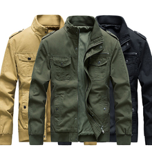 SRTM Men Cotton Military Jacket Male Stand Collar Multi-Pocket Soldier Casual Style Jackets 2019 Autumn Brand Bomber Coats