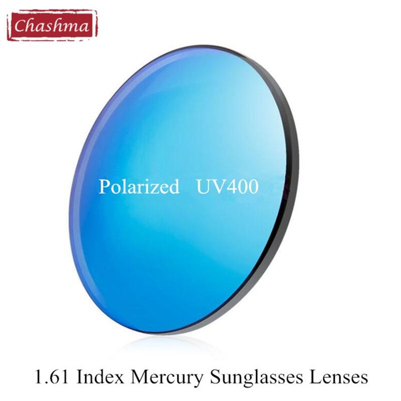 90283e32aa22c Chashma marca 1,61 protección polarizada UV 400 colores lentes de sol  prescripción Mercury gafas de sol lentes de la miopía