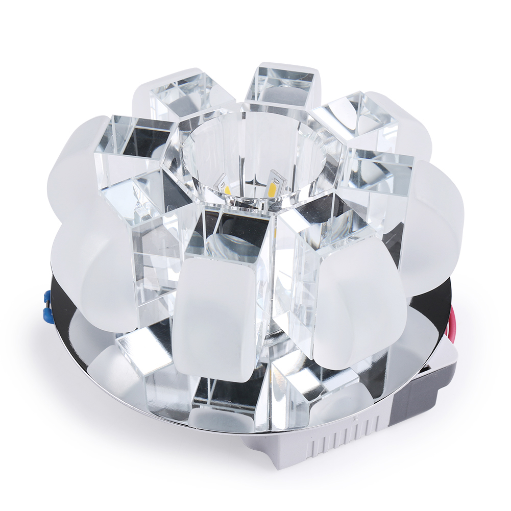 HGhomeart Led crystal aisle lights super bright small ceiling light round entrance lights installed corridor lights crystal lamp new entrance lights balcony lamp aisle lights corridor lights small crystal ceiling light small lamp stair lamp lamps