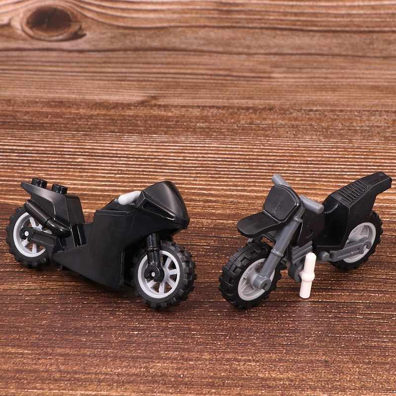 Cross-country motorcycle Weapons Brinquedos Compatible Playmobil City Military Mini Figures Building Block Brick Original Toys