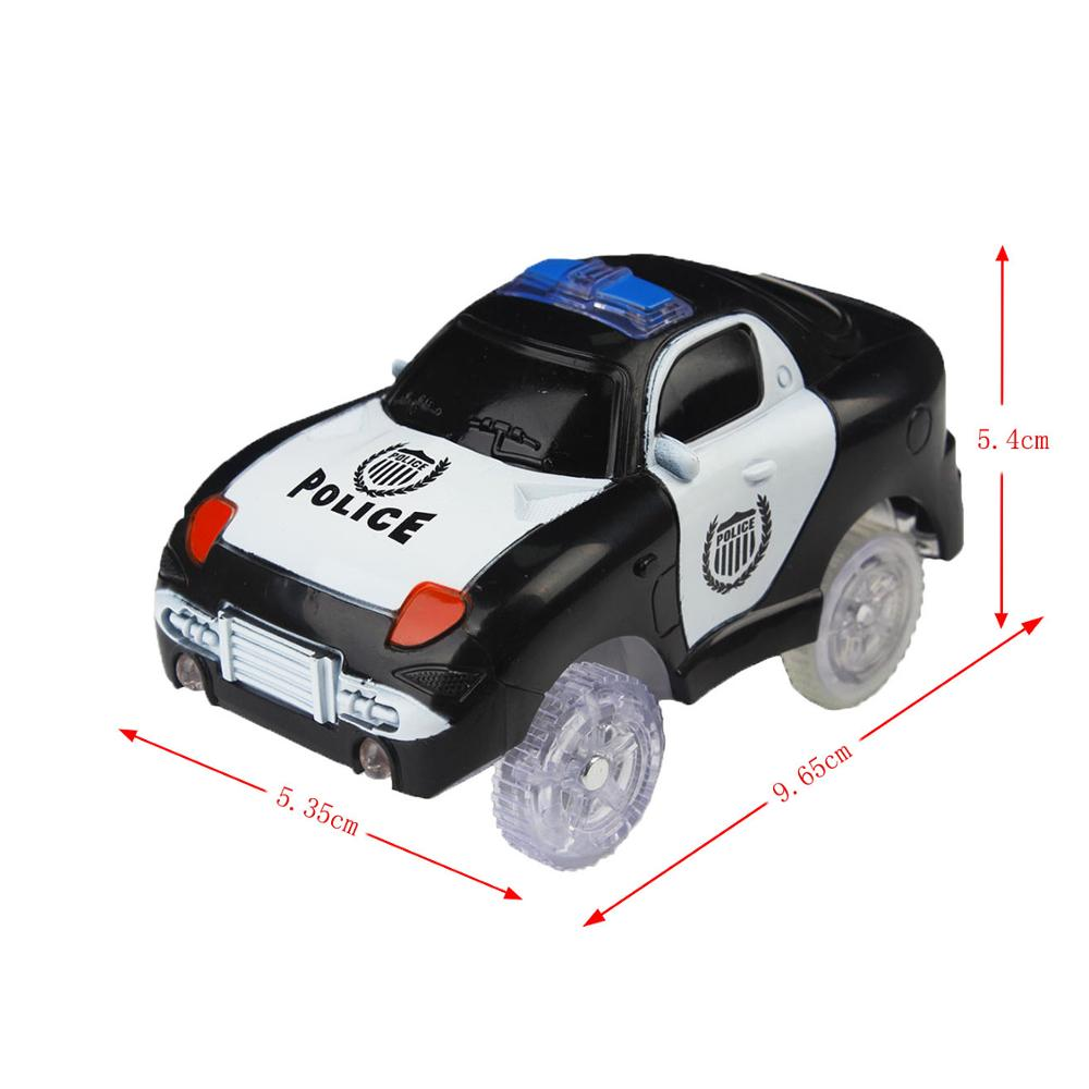 1 Black Police Car
