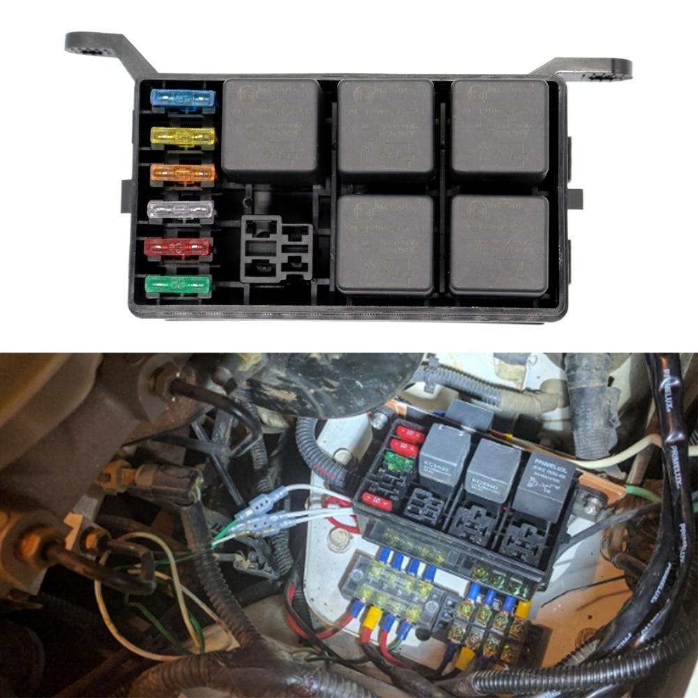 6 way fuse box universal auto fuse holder box with 6pcs. Black Bedroom Furniture Sets. Home Design Ideas