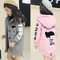 New clothes for children 2017 girls woolen coat winter long sleeve hooded jacket 10 year old girls clothes baby outwear toddler