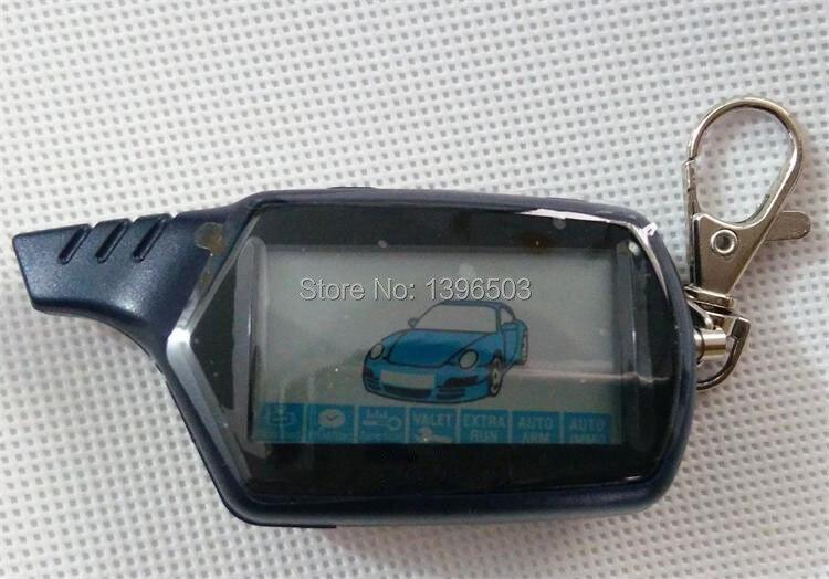 Russa Chaveiro B9 LCD Controlador Remoto Chave Fob Para Dois Sentidos Anti-Roubo Sistema de Alarme de Carro Starline Twage B9 alarme auto