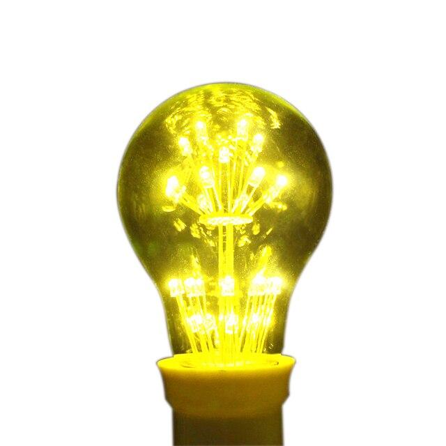 Hot! Retro Pretty E27 AC110V AC220V 2W 3W Edison Light Filament bulb Firework home Decor Christmas lights lamps 10pcs/lot