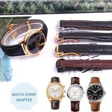 19mm 20mm21mm Universal Man Calf Leather For Omega Watchband Watch Strap for Rado Diamaster Bracelet Fold Buckle Black Brown T41 все цены