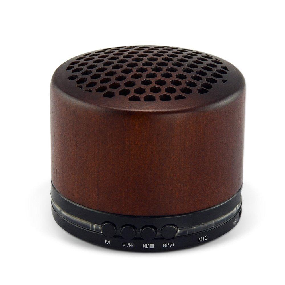 Sie Erste Tragbare Drahtlose Lautsprecher In Holz Mit Mikrofon Mini Bluetooth Lautsprecher Mit Tf Karte Für Telefon Musik Computer Tragbare Lautsprecher