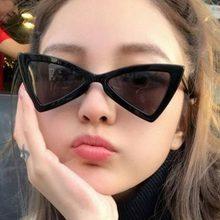 Mulheres óculos de Sol Borboleta Triângulo Óculos Pequeno Quadro óculos de  Sol Das Senhoras Óculos Olho de Gato Óculos Caminhada. 790da1a685