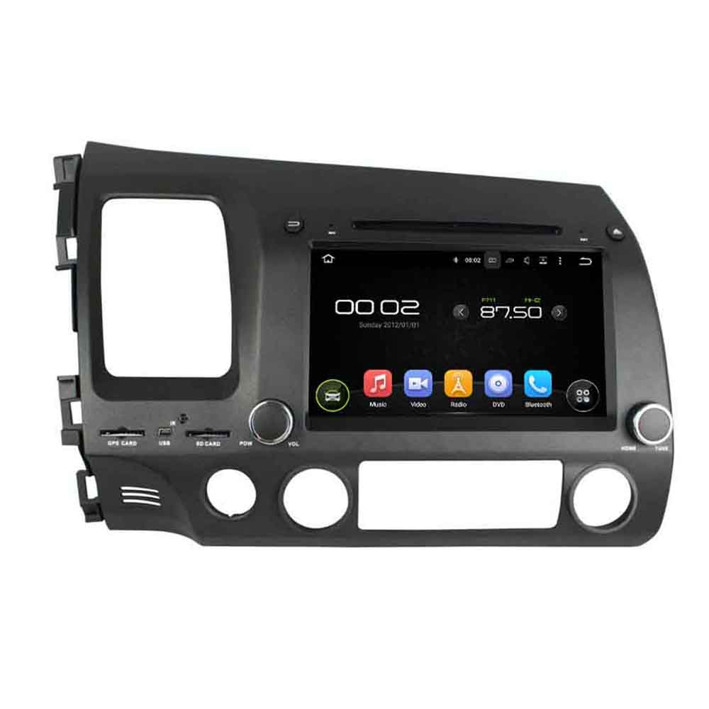 Android 8.0 octa core 4 GB di RAM lettore dvd dell'automobile per HONDA CIVIC 2006-2011 LHD ips touch screen unità di testa radio registratore a nastro