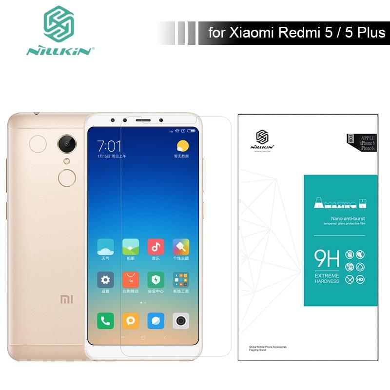 Pour Xiaomi Redmi 5 Verre 5.7 et 5.99 Nillkin Protecteur D'écran En Verre Trempé 9 H Dur 0.33mm pour Xiaomi Redmi 5 Plus Nilkin Verre