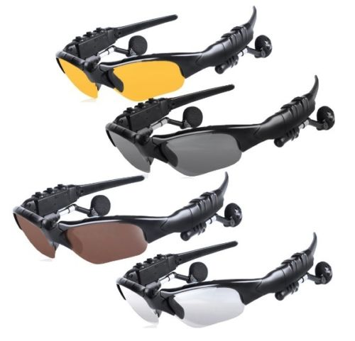 Wireless flip-up bluetooth sonnenbrille stereo mp3 musik headset kopfhörer kopfhörer für iphone...