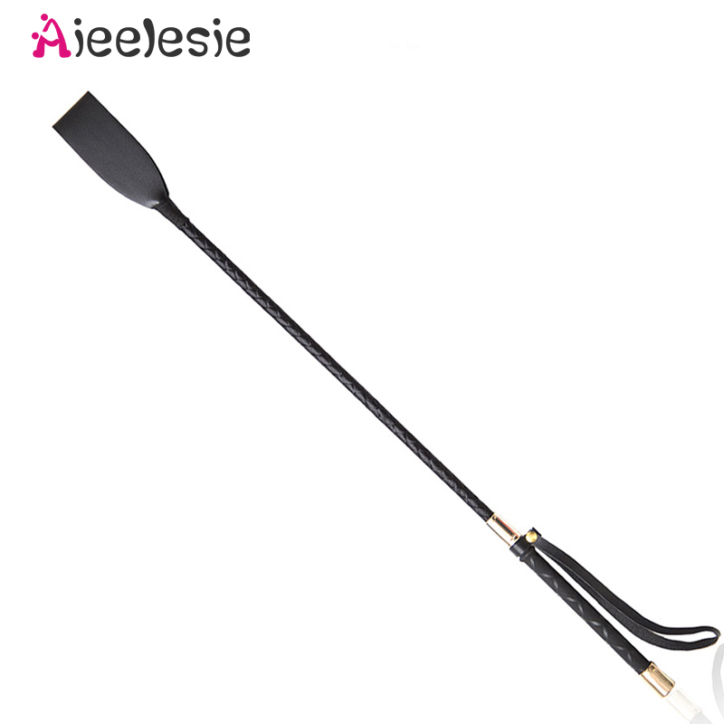 60CM PU Leather Spanking Paddle Long Whip Flirting BDSM Bondage Sex Toys For Adults Role Play SM Ga