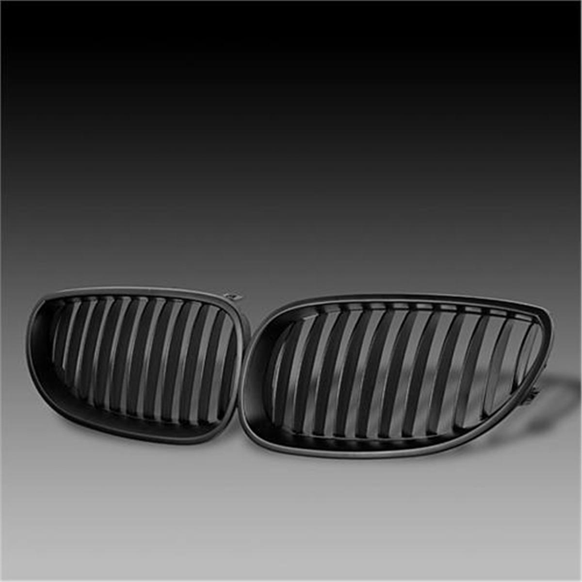 Front Black Sport Wide Kidney Grille Grill For BMW E60 E61 5 Series M5 2003-2009 e60 abs front kidney grille grill for bmw 5 series e60 2004 2009 sedan e61 hatchback 1 slat 2 slat 535i 545i