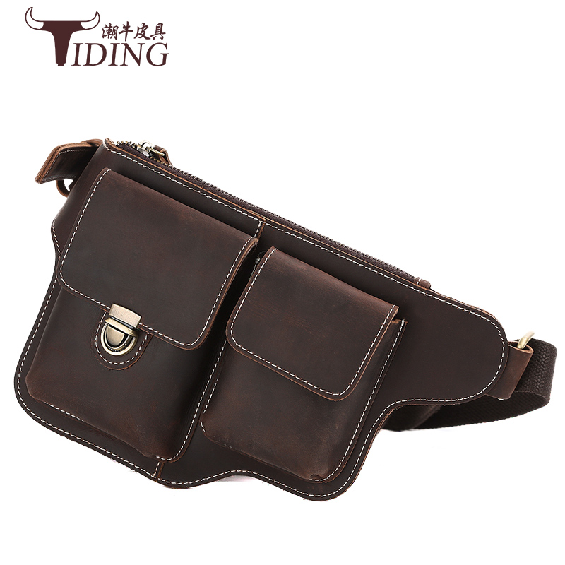 genuine leather waist bags men 2017 new man casual fashion brand brown vintage travel cow leather crossbody bags waist pack bags аксессуар чехол rock jello protective shell for iphone 6 white 69439