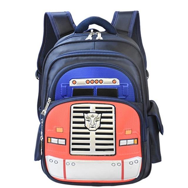 Boys 3D Transformer Backpacks for Primary School Students Girls Robot School  Backpacks Children Kids Casual Shoulder Bookbag f43494ec5cede