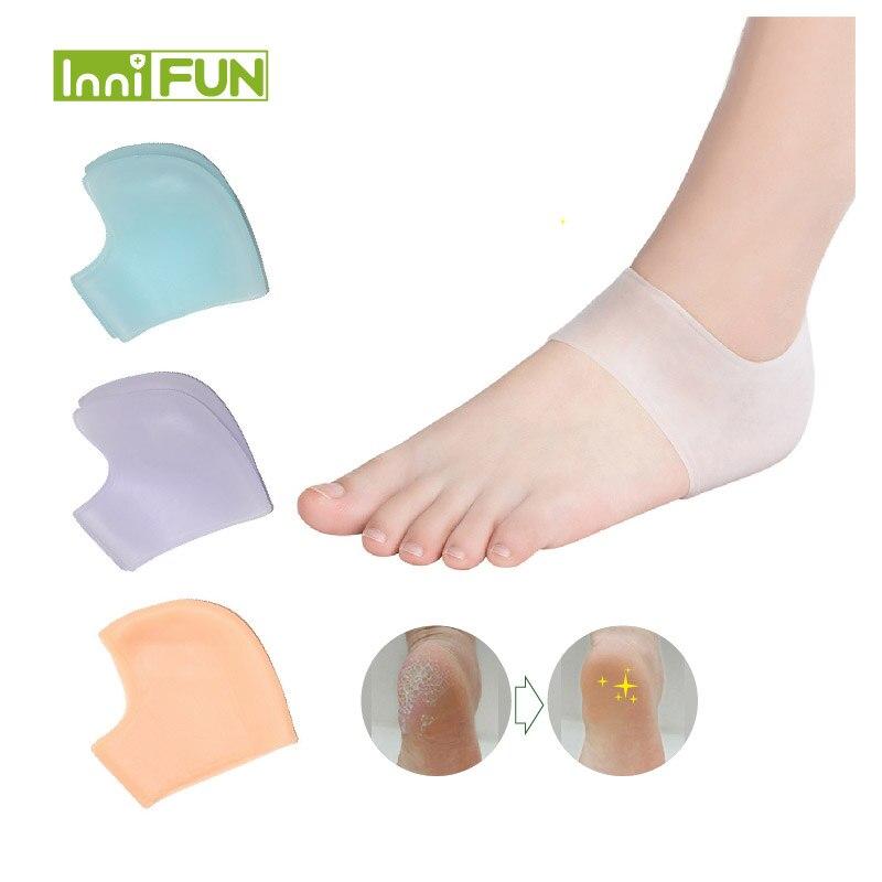 Einlagen & Kissen 1 Para Behandlung Heißer Glatte Fuß Pflege Pad Gel Ferse Socken Mode Fuß Hautpflege Protectors Socken Blau