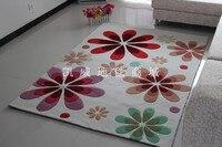 Tapete rústico americano flor polyacrylonitrile fibra tapete sala de estar quarto cama tapete