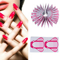 100 Pcs/Pack Professional Nail Gel Extension Sticker Nail Art Acrylic Nails Forms Guide Horseshoe Shape Nail Tip Form For Women