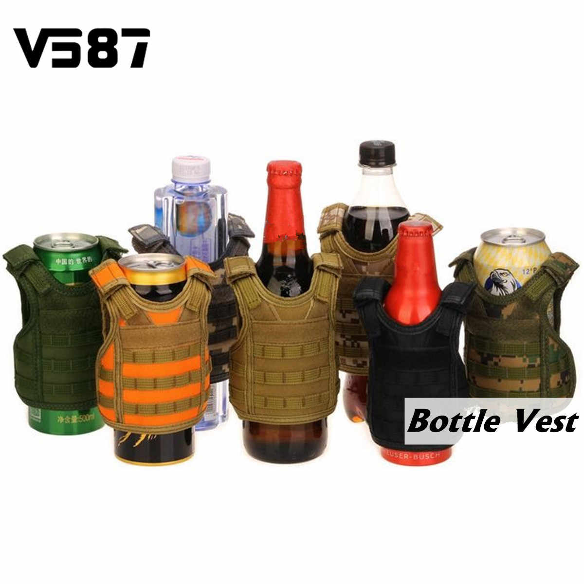 Beverage Beer Bottles Cover Soda Drinks Tactical Vest Miniature Holder Wine Pouch Party Bar Tools Accessories Christmas Gifts