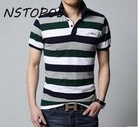 Camiseta Gola Polo Masculino Short Sleeve 100 Cotton Y D Stripe Shirt Men Polo Red Green