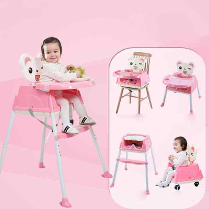 Mobiliário Cadeira Para Crianças do bebê Portátil Assento Infantil Jantar Cadeira Mesa Dobrável Ajustável Multifuncional Ajustável Cadeira Crianças