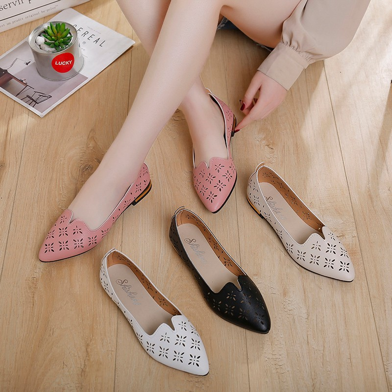 Women's Pumps New Fashion Spring Summer Shoes Casual Point Toe Loafers Shallow Work Shoes Ladies Lady Walking Party Pump Uik9