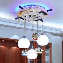cartoon Mediter Led modern lighting chandelier baby room ceiling kids 110- 220V luminarias