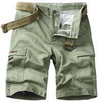 Summer Men's Shorts Casual Cargo Multi pocket Short Trousers Men five cent army Shorts Mens Boys Beachwear XXXXL Bottoms