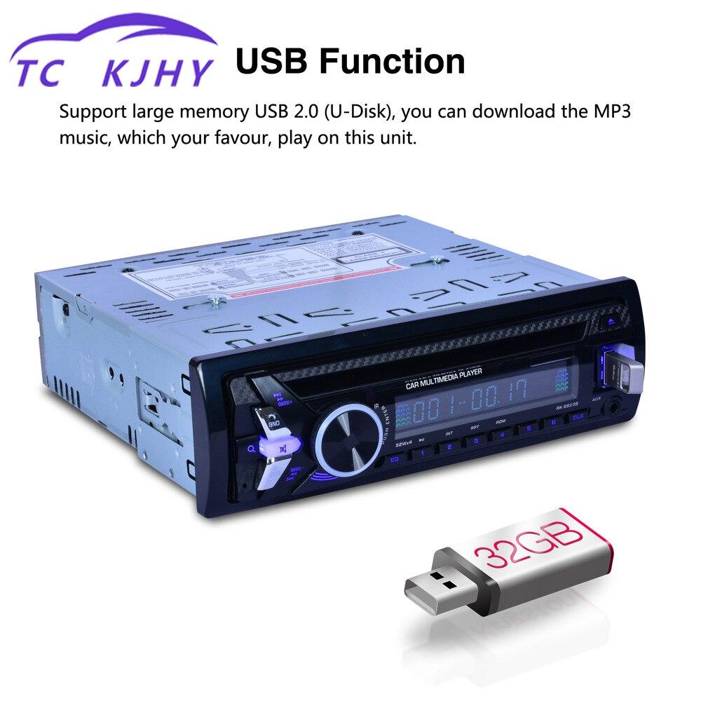 Lecteur Audio de voiture Bluetooth deux voies véhicule DVD FM transmetteur Auto voiture lecteur MP3 conduit USB Microphone Interface affichage